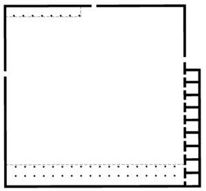 Diagram reconstruction of the Prophet's House, Medina, Saudi Arabia